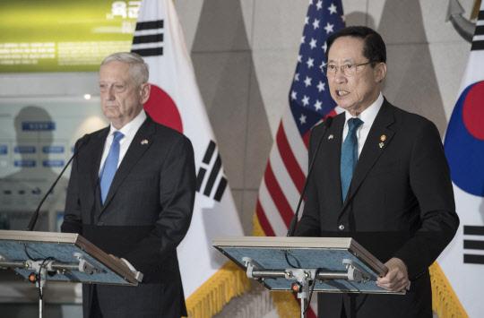 한미, 회담서 연합훈련 중단·전작권 논의